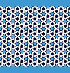 arabic patterns background geometric seamless vector image vector image