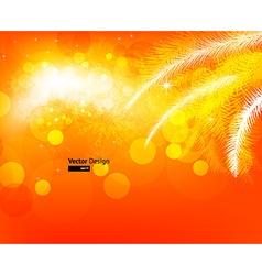 Bright Orange Christmas Background vector image