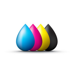 Cmyk droplets vector