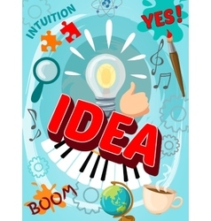 Creative brain poster vector