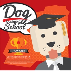 Dog Training School vector image vector image