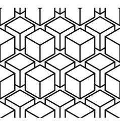 Endless monochrome symmetric pattern graphic vector