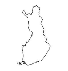 finland map of black contour curves of vector image