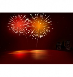 fireworks red vector image