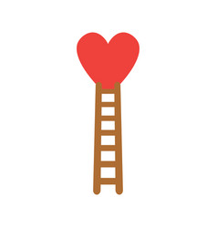 flat design style concept of climb to heart with vector image