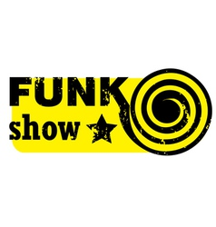 funk show stamp vector image