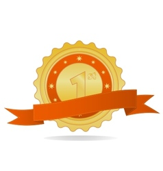 Golden badge vector