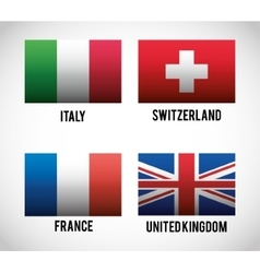 Isolated flags of europe design vector