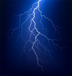 lightning bolt at night vector image