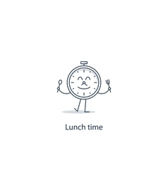 Lunch time concept vector image vector image