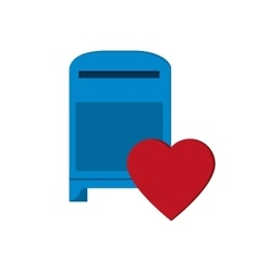 Mailbox and heart notification icon vector