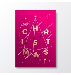 Merry Christmas Abstract Minimalistic vector image