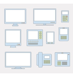 monitors vector image