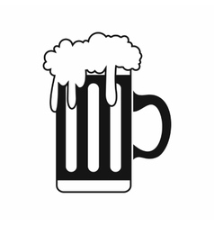 Mug with beer icon simple style vector image vector image