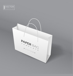 Realistic paper bag template vector image vector image