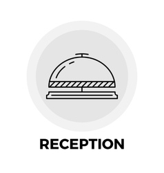 Reception line icon vector