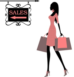 sales time vector image
