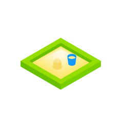 Sandbox on a playground isometric 3d icon vector
