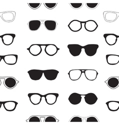 Seamless pattern with sunglasses fashion vector image vector image