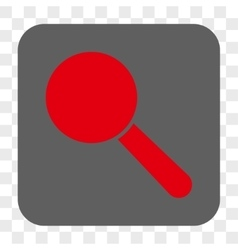 Search tool rounded square button vector