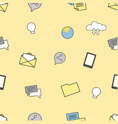 set of internet and technologies icons seamless vector image vector image
