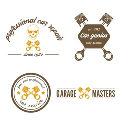Set of logo badge emblem and logotype element vector image vector image