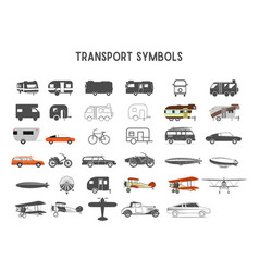 Transport shapes and elements for creation vector