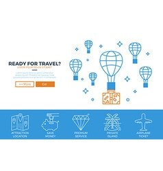 Travel website template vector image vector image
