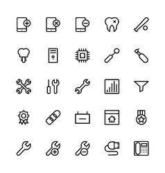 User Interface Colored Line Icons 51 vector image vector image