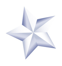 White star american independence nation symbol vector