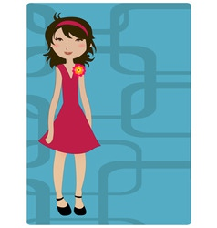young girls vector image