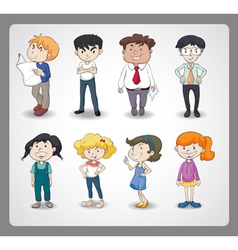 various persons vector image