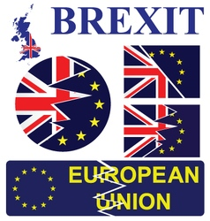United kingdom exit from the european union signs vector