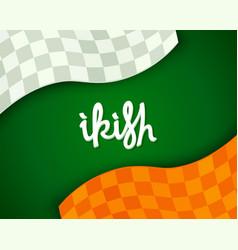 stylized irish background vector image