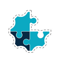 Puzzle creative solution image vector