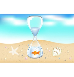 Water clock on seaside vector