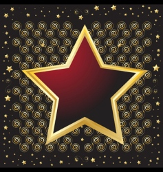 star shaped vector image