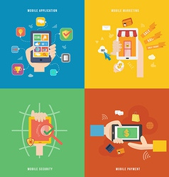 Element of mobile payment application and vector