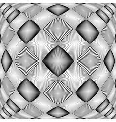 Design warped monochrome geometric diamond pattern vector