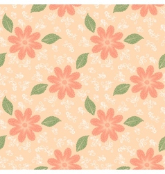 Seamless flower plant pattern background vector