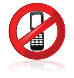 no cell phones vector image