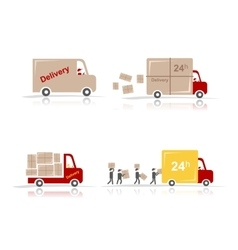 Delivery cars set for your design vector image