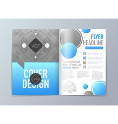 Abstract brochure flyer design template in a4 size vector