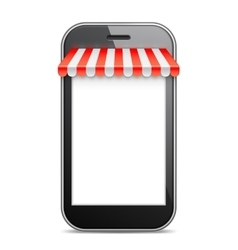 Mobile phone with red awning vector