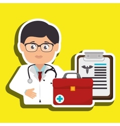 Doctor medical icon vector