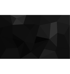Abstract black faceted paper background vector