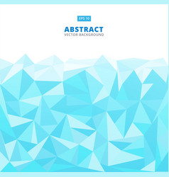 Abstract geometric blue turquoise and white vector