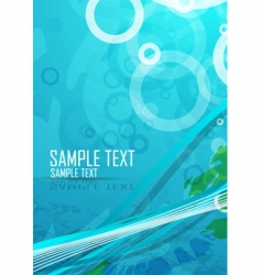 aqua themed background vector image vector image