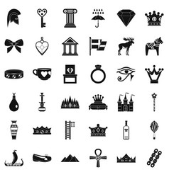 Authority icons set simple style vector