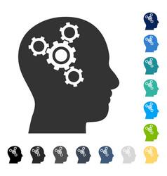 Brain mechanics icon vector